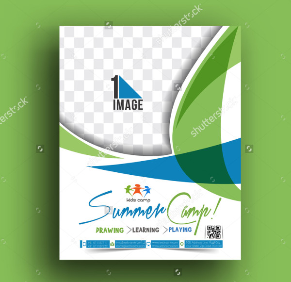 Vector Summer Camp Flyer Design