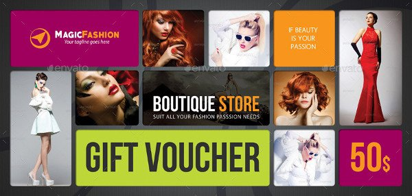 Deluxe Beauty Fashion Gift Voucher