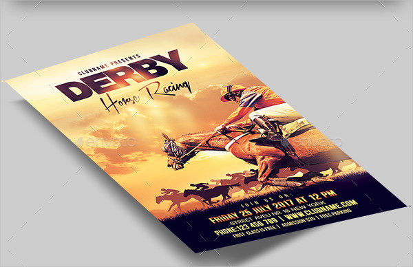 Derby Horse Racing Flyer Template