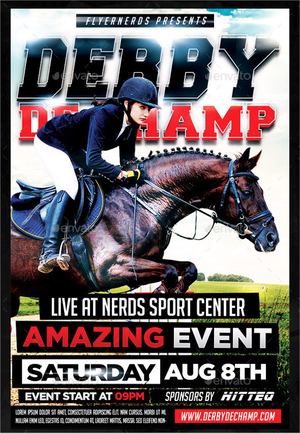 Derby Horse Racing Event Flyer Template