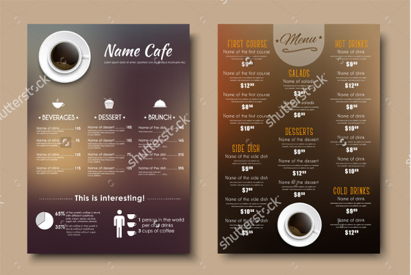 Design Menus Flyer Template for Cafe