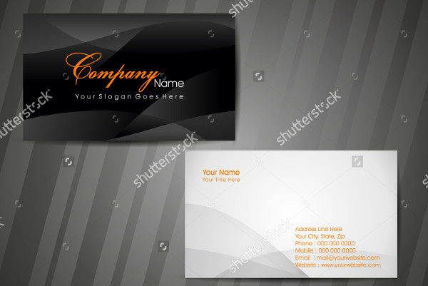 Abstract Designer Business Card Template