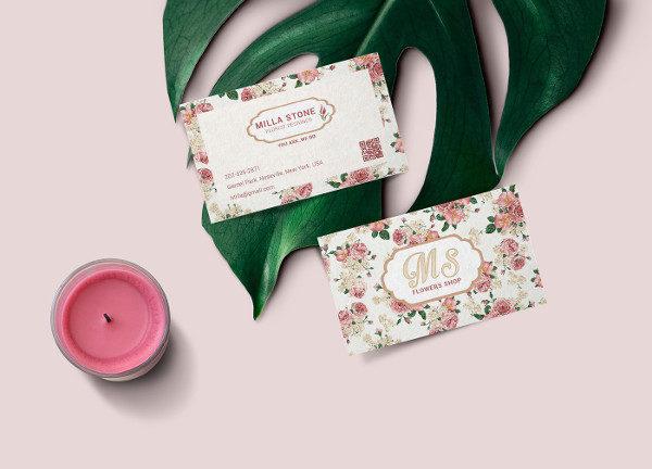 Florist Designer Business Cards