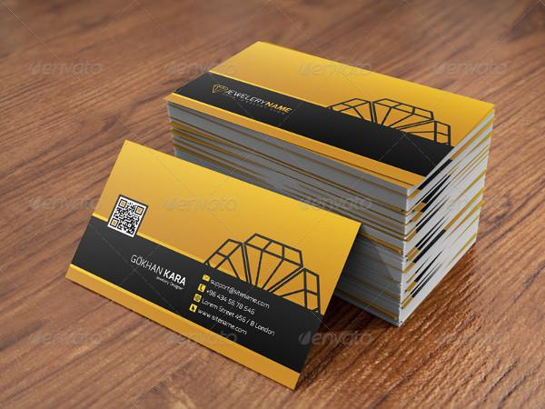 Diamond Jewelry Business Card Template