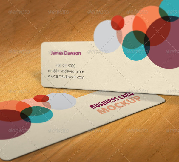 Professional Die Cut Business Cards Mockup