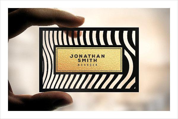 Die Cut Elegant Business Card Template