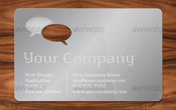 Unique Die Cut Business Card