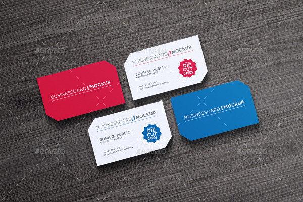 Creative Die Cut Business Cards Design