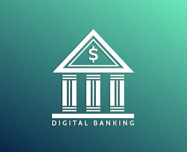 Digital Banking Free Vector Logo