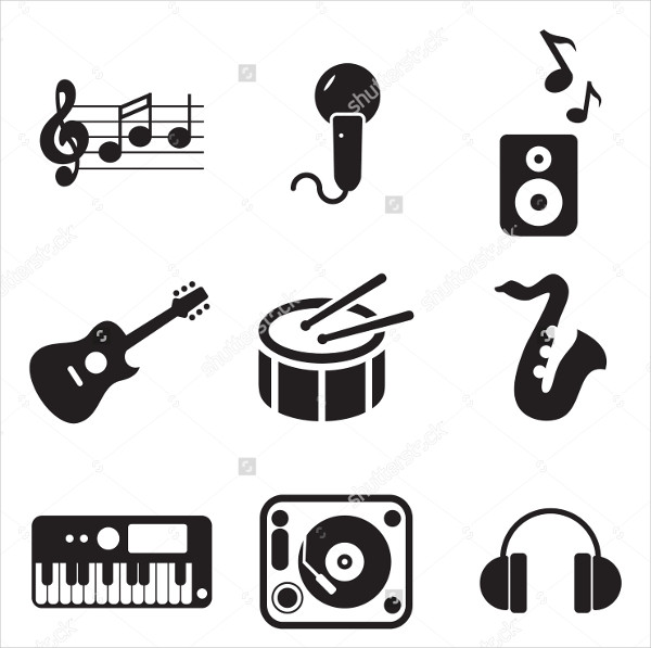 Music Studio Icons Illustration