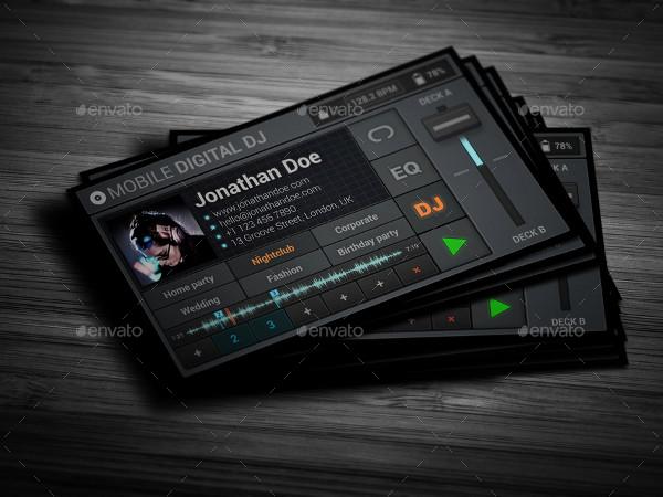 Mobile Digital DJ Business Cards