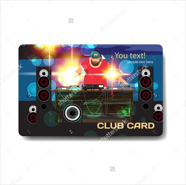 DJ Club Vector Business Card Template