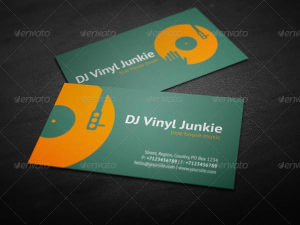 Printable DJ Business Card Template