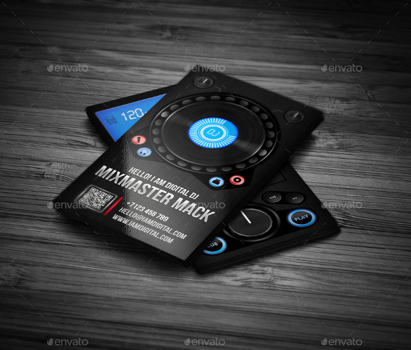Attractive DJ Business Card Template