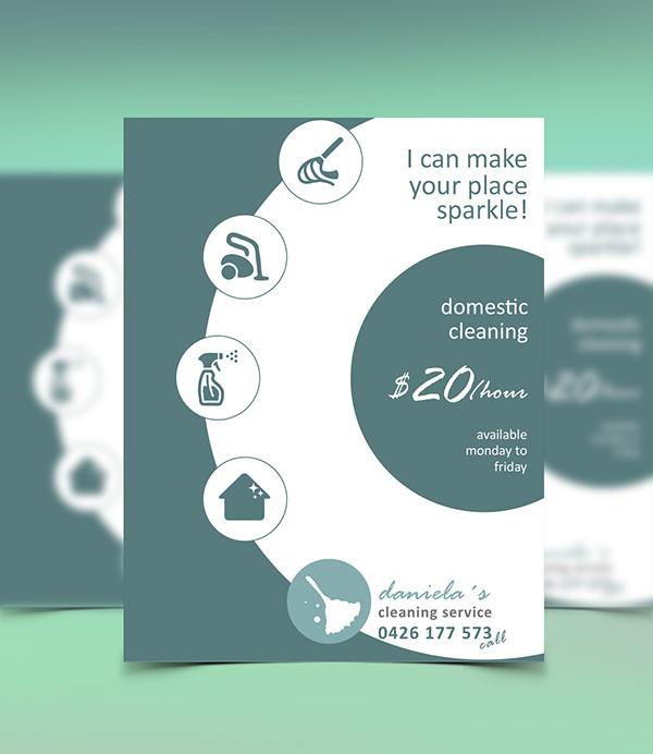 Domestic Cleaning Services Flyer Template