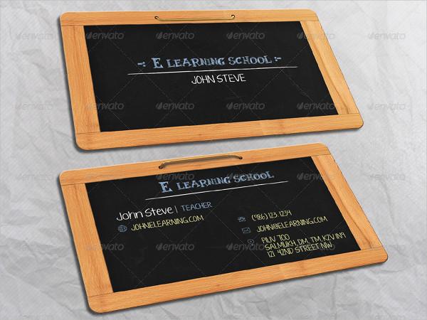 E Learning School Business Card Design