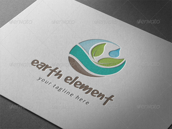 Earth Nature Element Logo Template