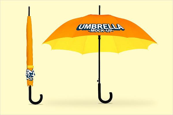 Easy to Edit Umbrella Mock-Up