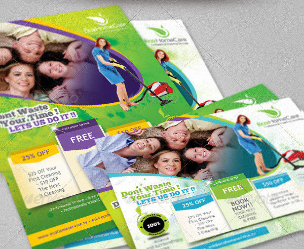 Eco Cleaning Services Flyer Template