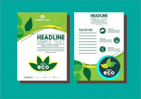 Eco Green Leaves Business Flyer