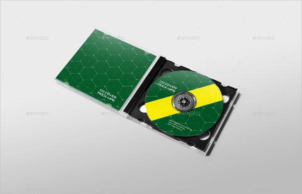 Editable CD Cover Mockup
