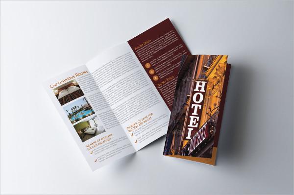 Stylish Hotel Trifold Brochure Template