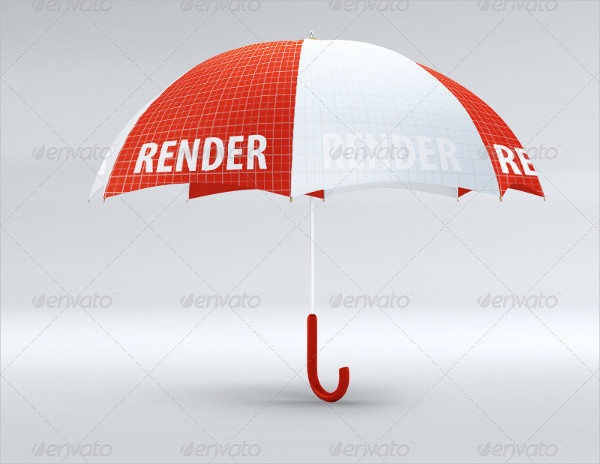 Editable Umbrella Mockup