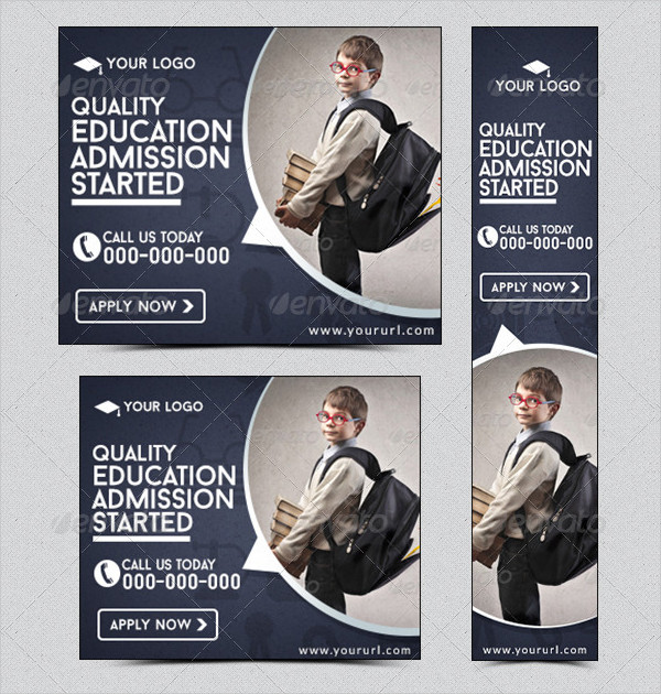 Metro Design Education Banner Templates