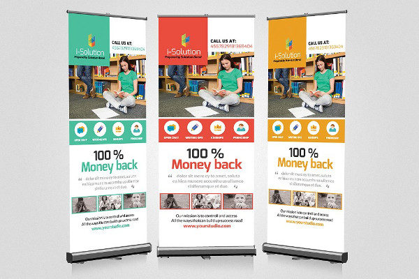 Creative Education Roll Up Banner Template