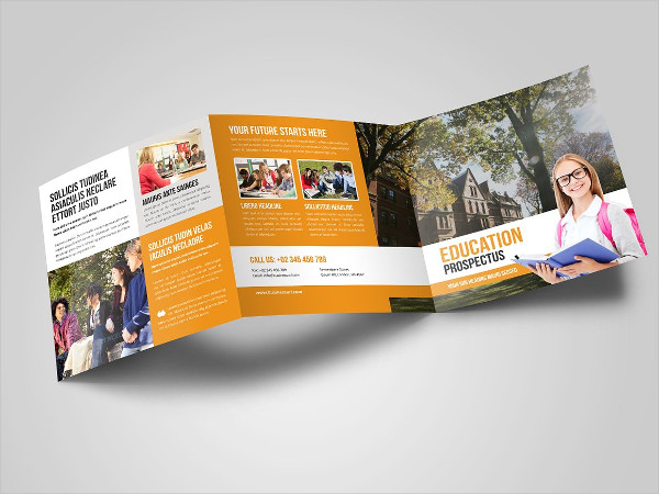 Education Square Trifold Brochure
