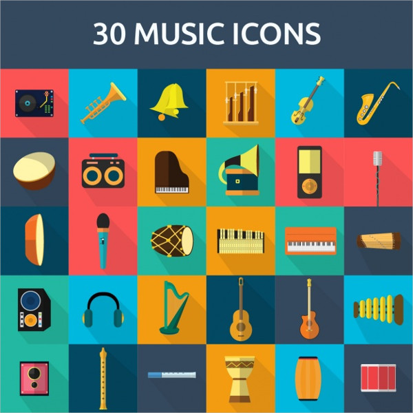 30 Free Icons for Cultural Music