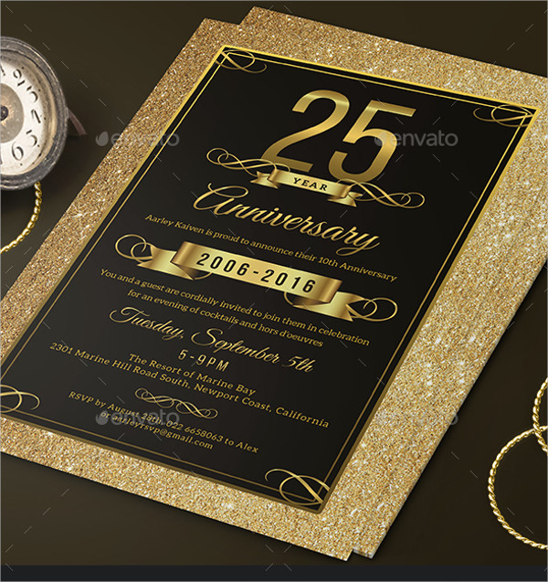 Elegant Anniversary Event Invitation Template