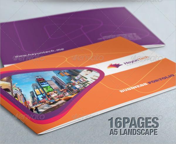 Elegant Business Portfolio Landscape Brochure Template