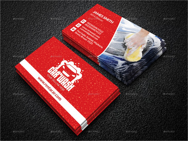 Elegant Car Wash Services Business Card Template