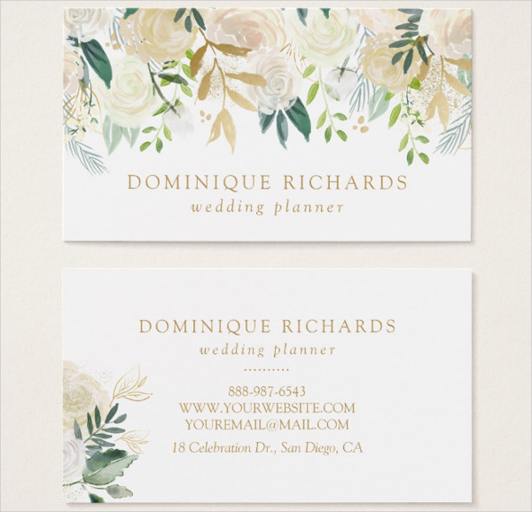 Elegant Flower Business Card Template