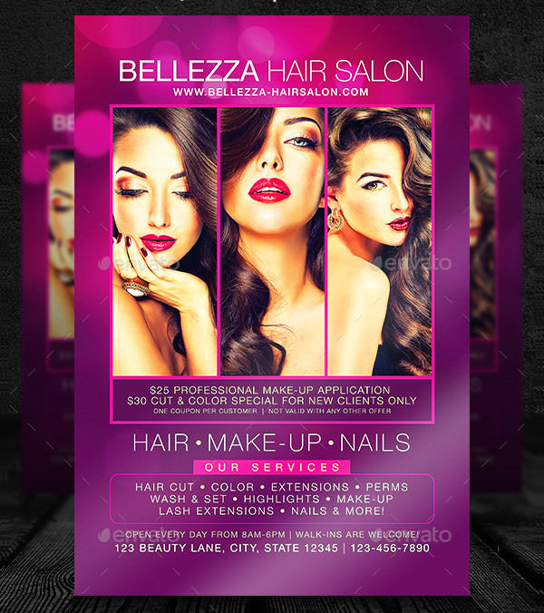 Elegant Hair Salon Services Flyer Template