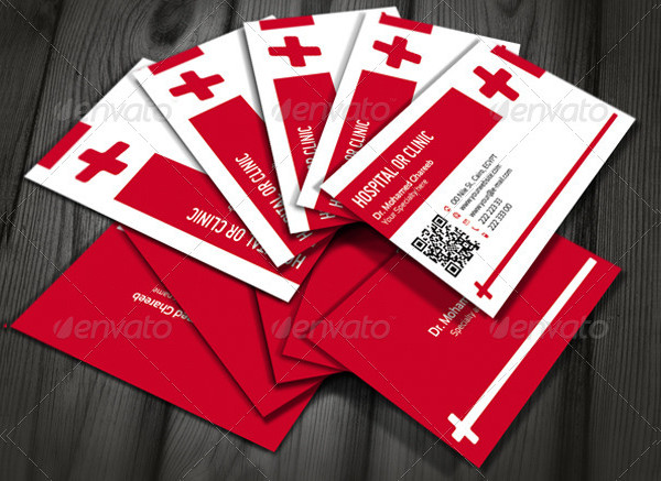 Elegant Hospital or Clinic Business Card Template