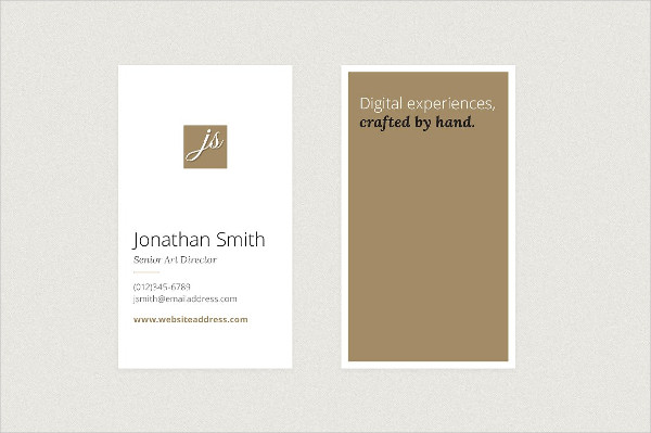 Elegant Vertical Business Cards