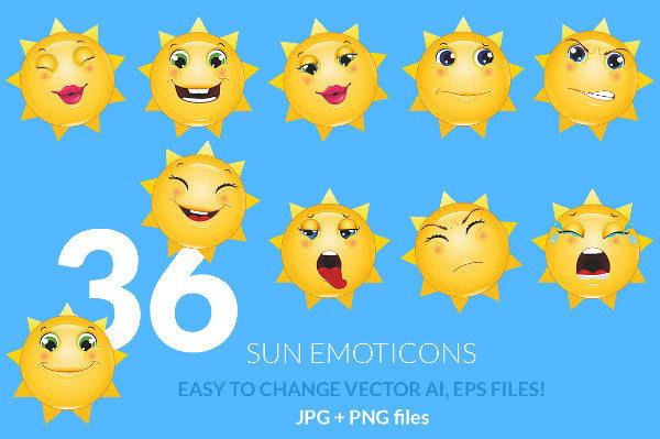 Emoticons Sun
