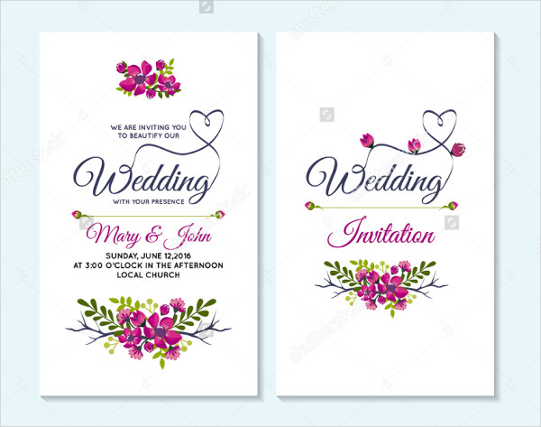 Wedding & Anniversary Invitation Templates