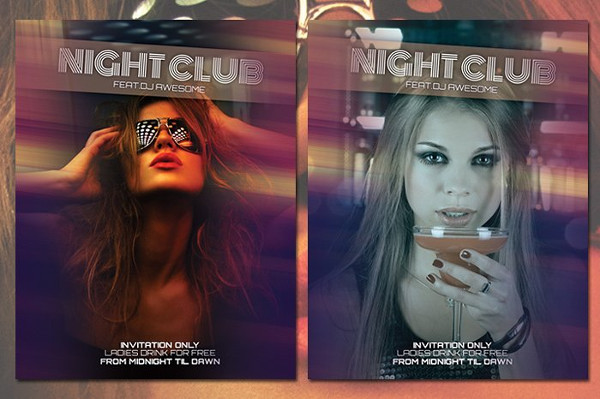 Clean Night Club Event Flyer Template
