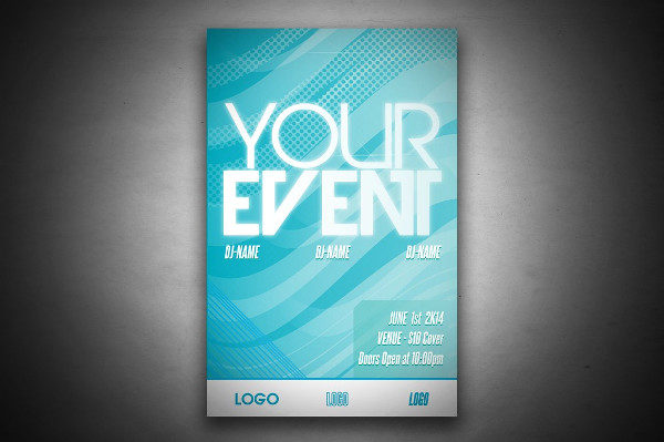 Fully Editable Event Club Poster