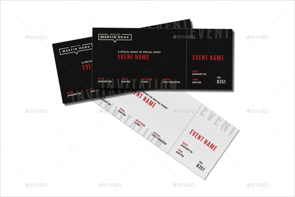 Professional Event Show Invitation Ticket