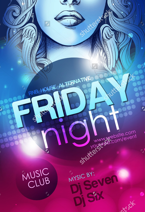 Friday Night Party Poster Template