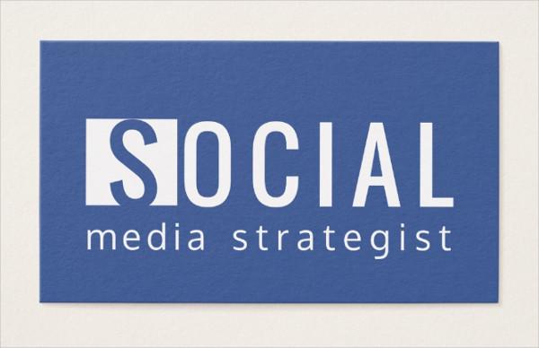 Facebook Strategist Business Card