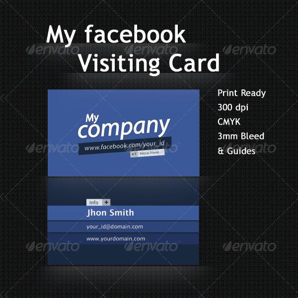 Facebook Profile Business Card Template
