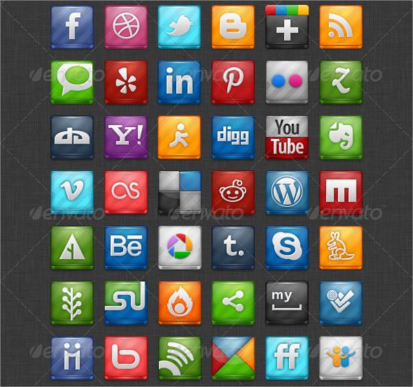 Social Media Transparent Icons