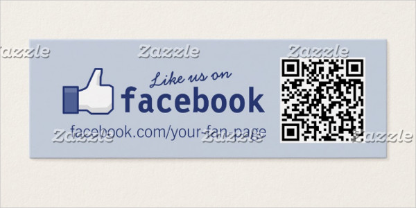 Facebook Mini Business Card Template