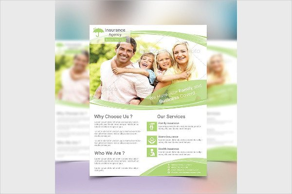 Clean Insurance Agency Flyer Template