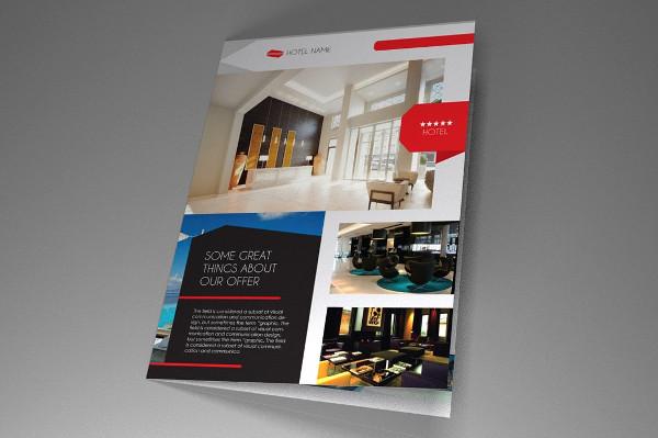 Fancy Hotel InDesign Brochure Template